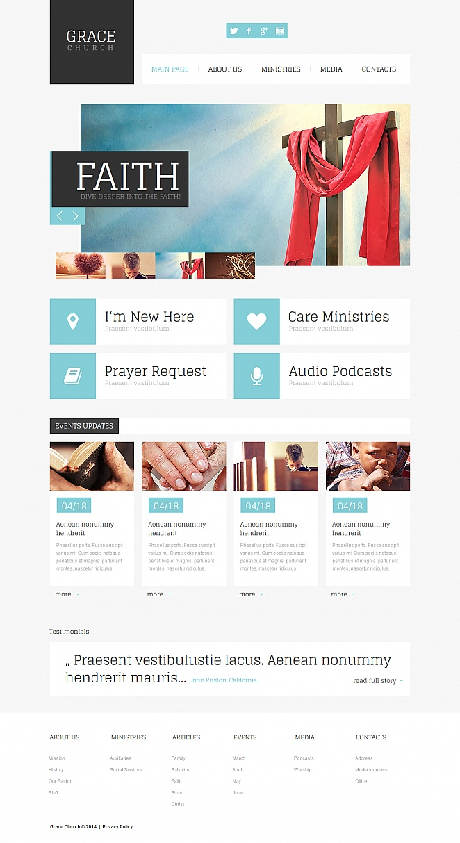 MotoCMS HTML Szablon #48059 z kategorii Religia - image