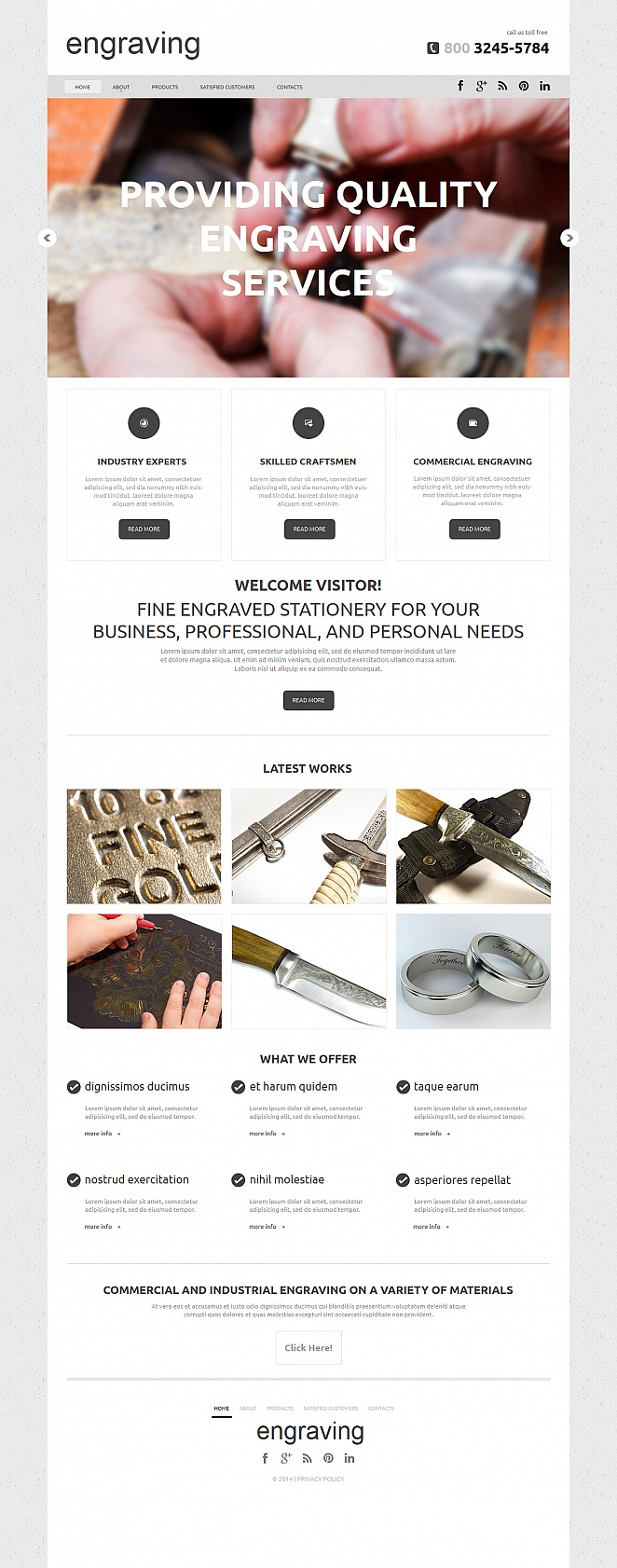 Clean Website Template for Engraving Businesses - image