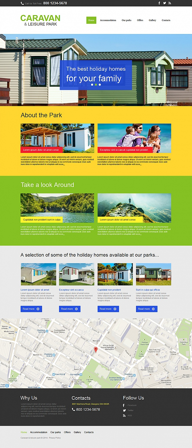 Caravan Park Website Template Done in Bright Colors - image