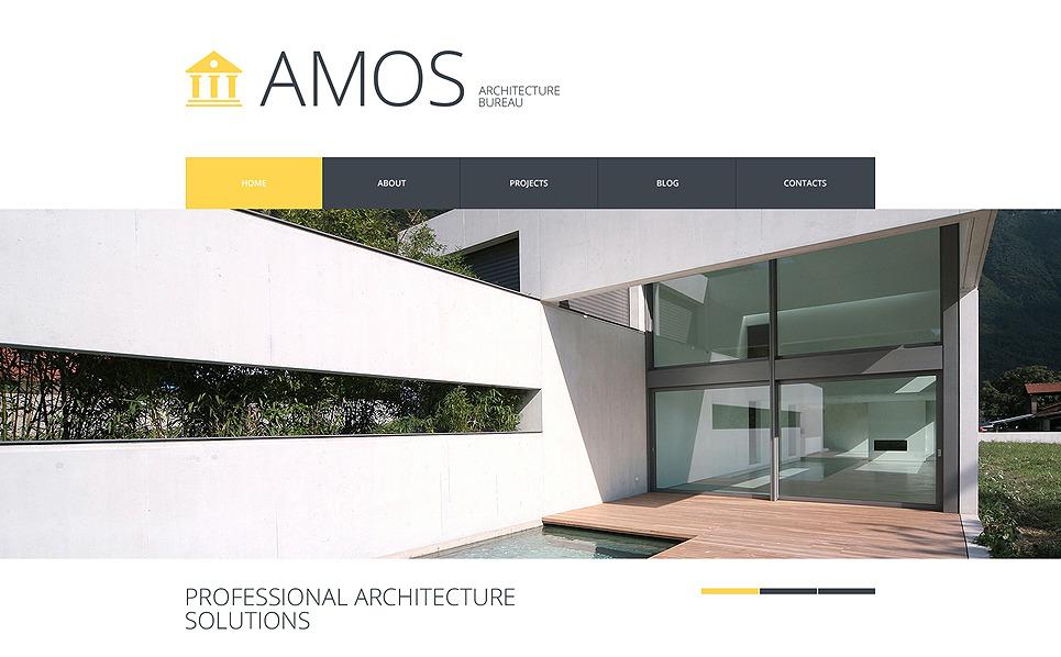 Plantilla web 48114 para sitio de arquitectura for Arquitectura sitio web
