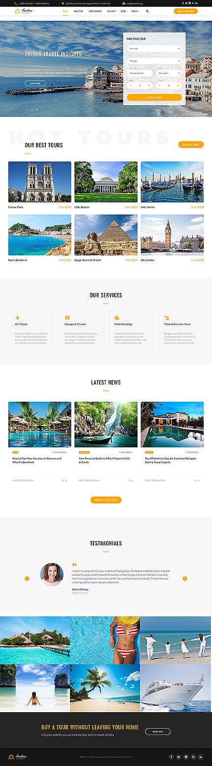White & Cyan Travel Agency Website Template by Glenn - Travel Agency ...