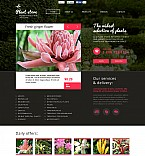 48126 Flowers Flash CMS Templates