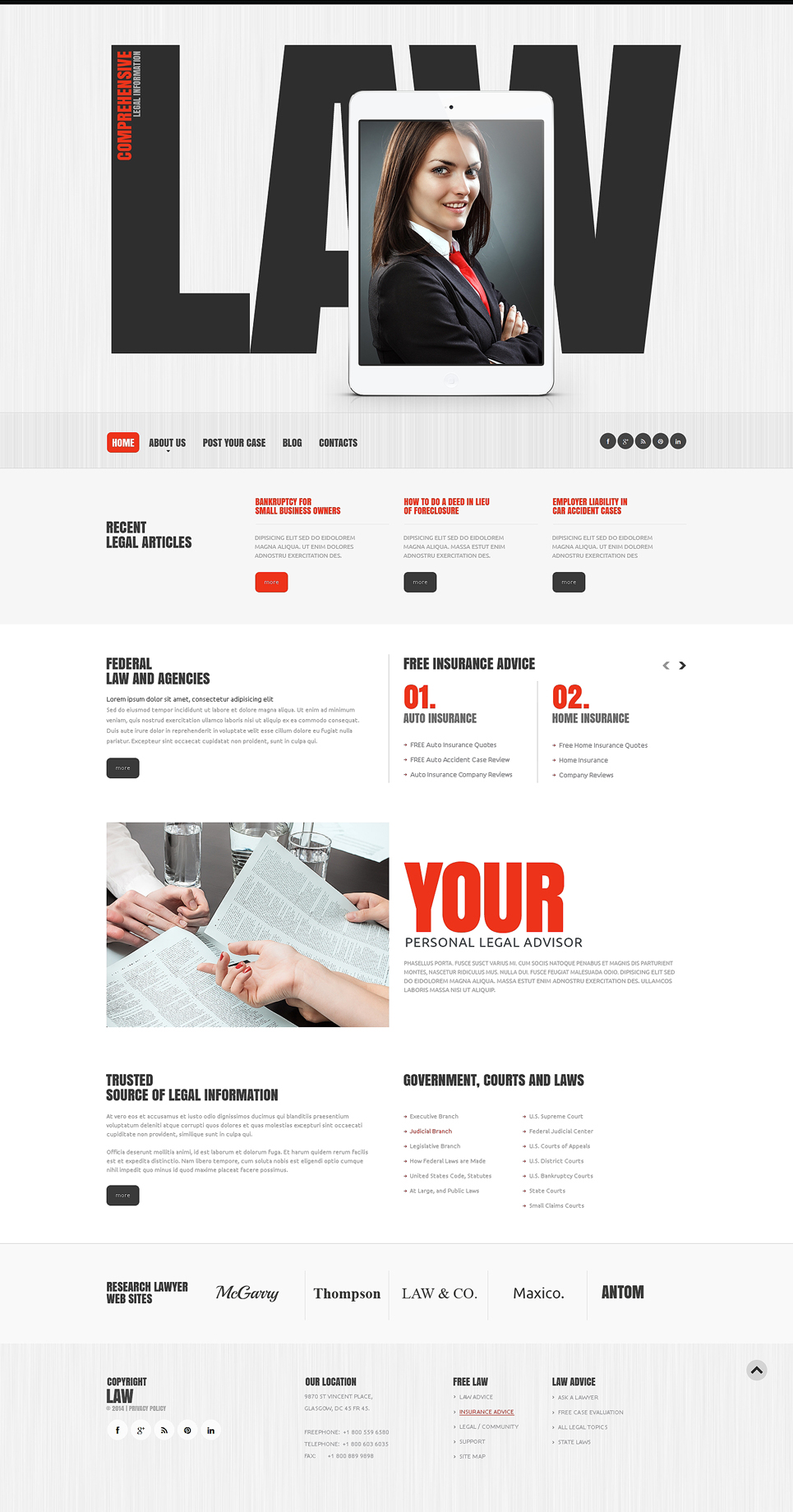 Law Firm Responsive Website Template New Screenshots BIG