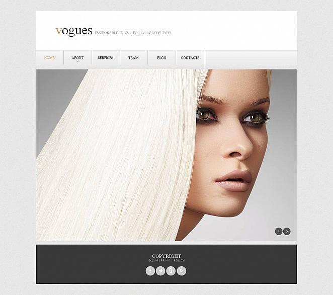 Website in hellen Tönen für Kleidungsmarken