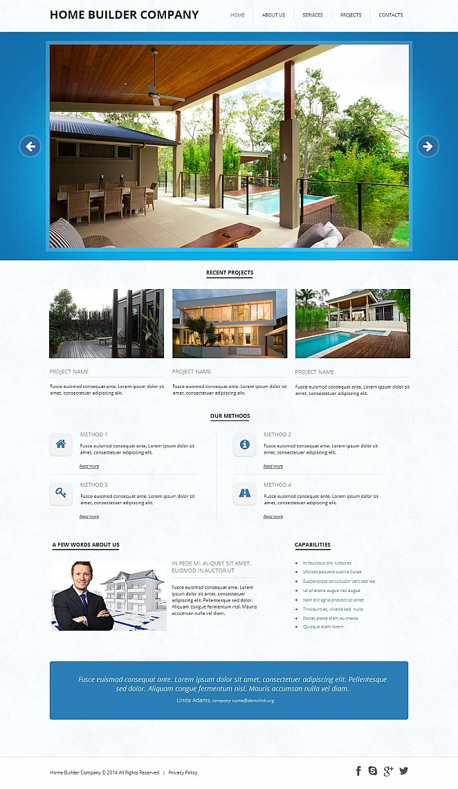 Website Template with jQuery Gallery for Home Building Businesses - image