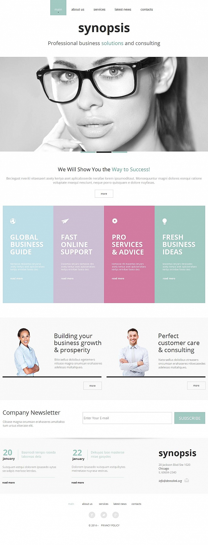 Business Website Template Done in Pastel Colors - image