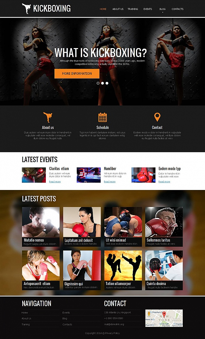 Creative Sports Template for Kickboxing Clubs - image