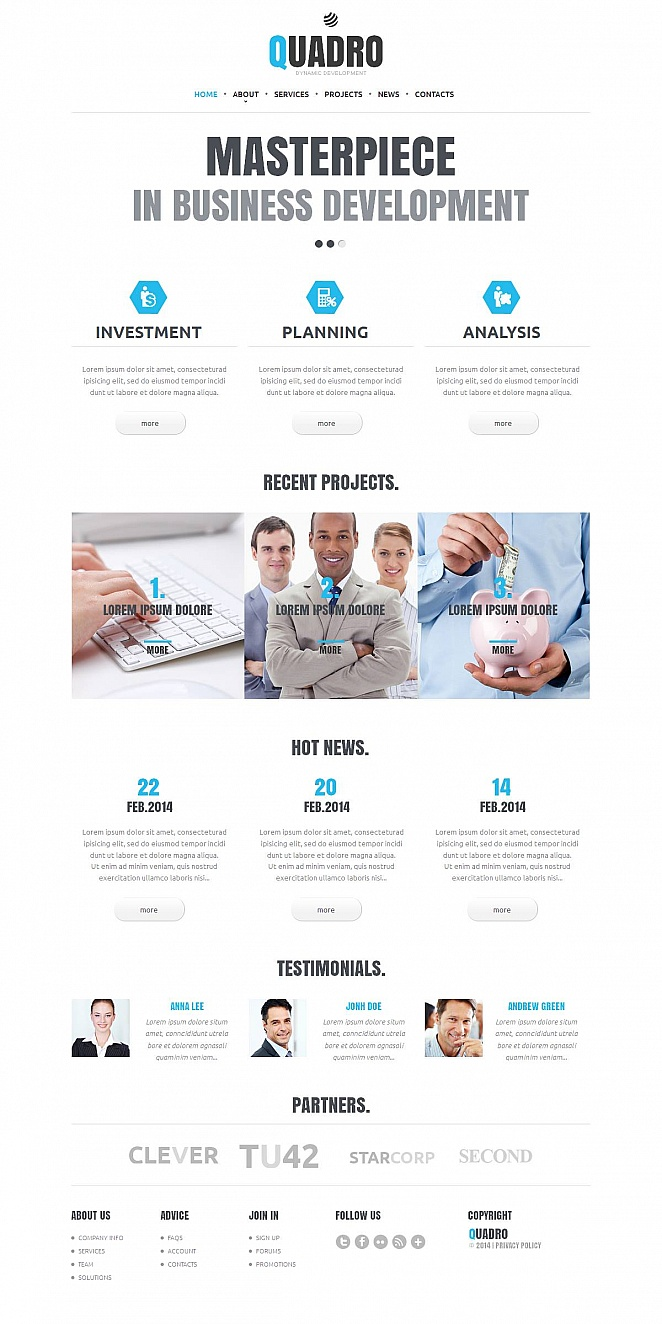 Website Template for Business Development Companies - image