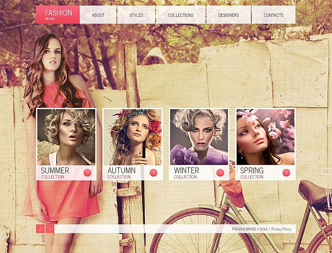 Creative Website Template for Fashion Brands - image