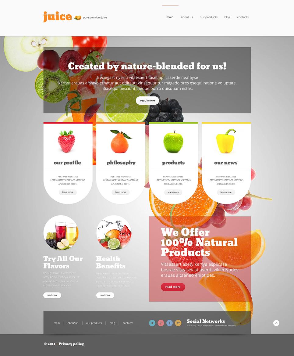 Simple and Comprehensive Food & Drink Responsive Joomla Template