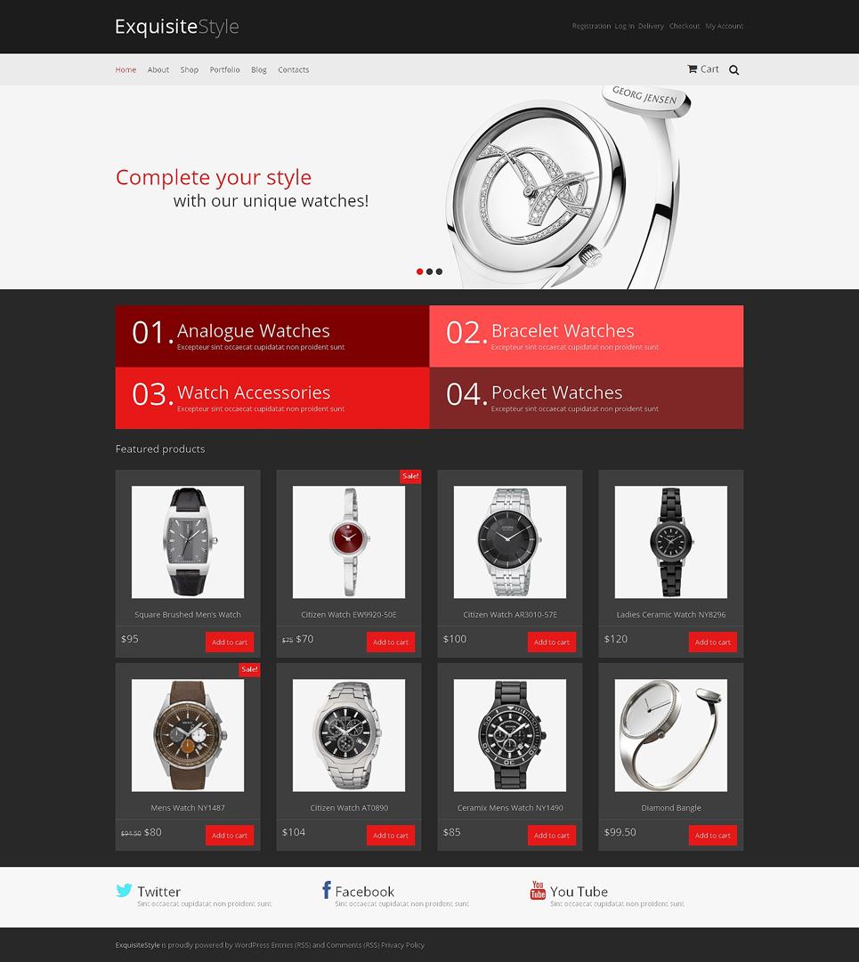 Exquisite Watches Responsive Jigoshop Fashion Store Theme