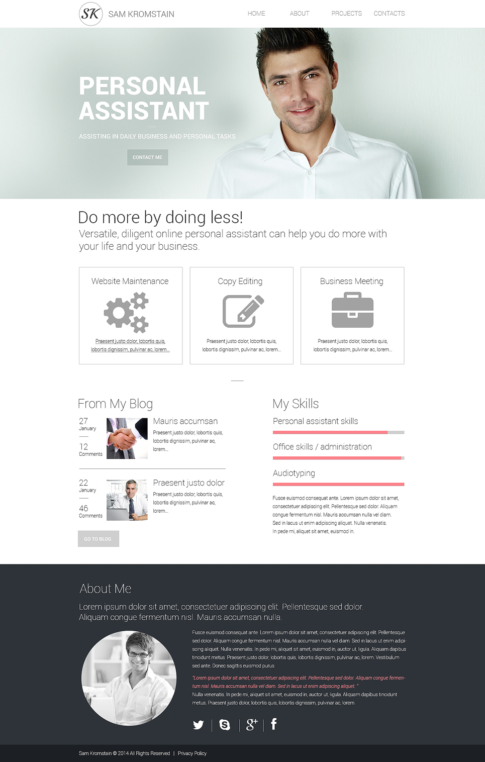 Consulting responsive website template 48321 for Design consultancy company profile