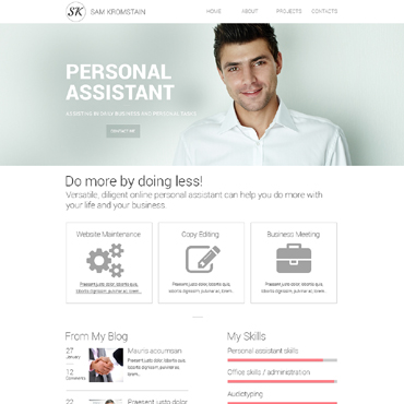 personal profile website templates