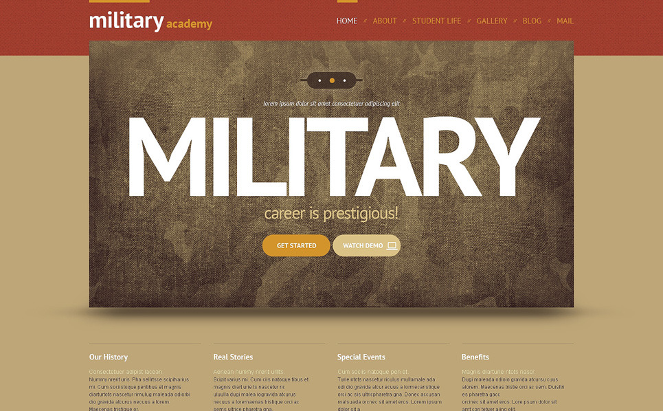 Army Responsive WordPress Theme New Screenshots BIG
