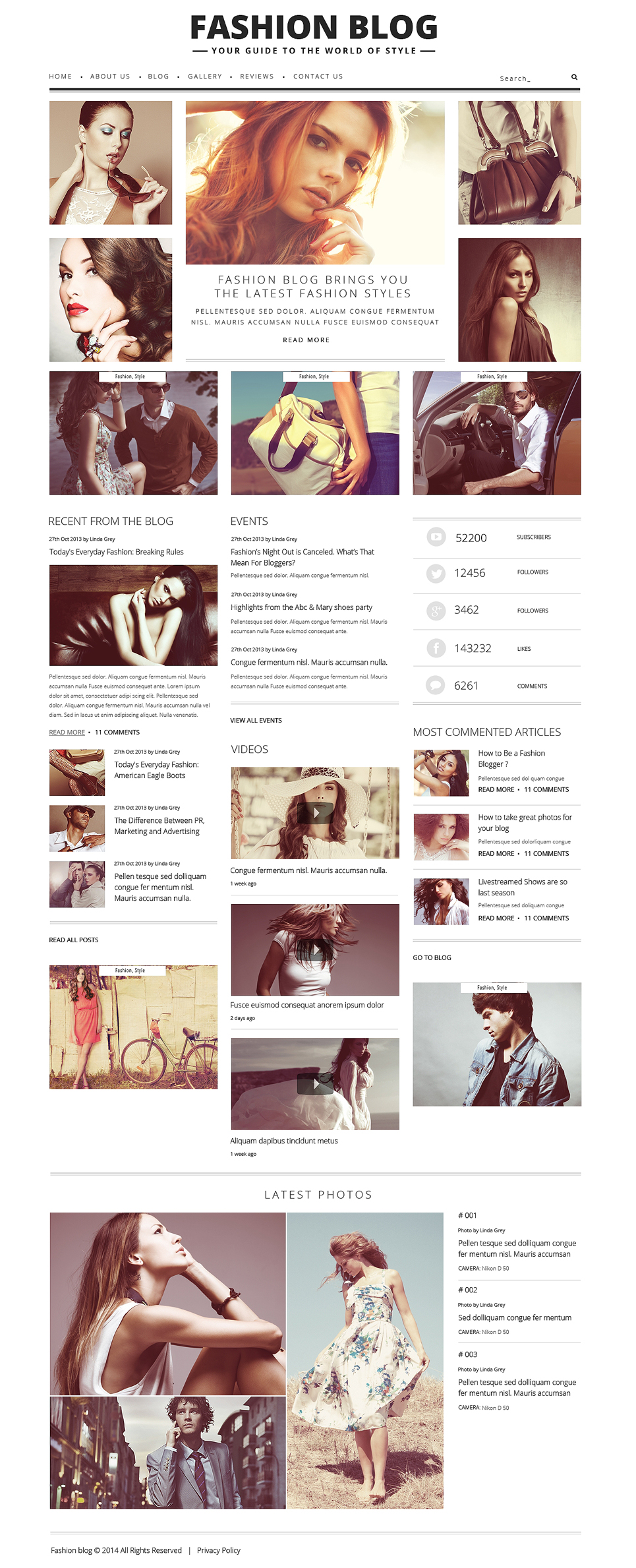 Fashion Blog for Passionate Authors WordPress Theme New Screenshots BIG