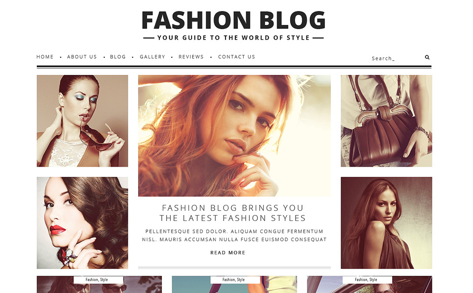 Fashion Blog WordPress Theme New Screenshots BIG