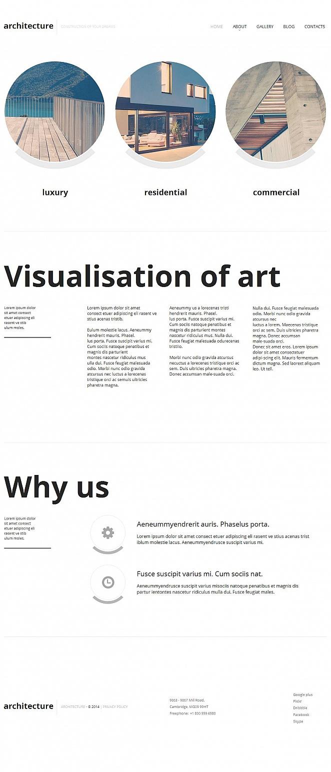 Architect's Portfolio Template with Minimalist Design - image