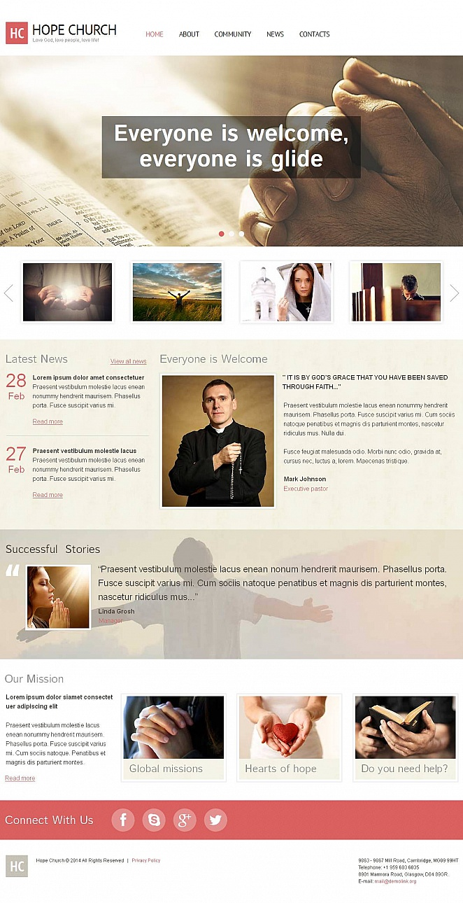 Religious Website Template with Flat Design - image