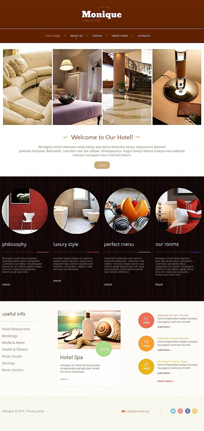 MotoCMS HTML Шаблон #48389 из категории Отели - image