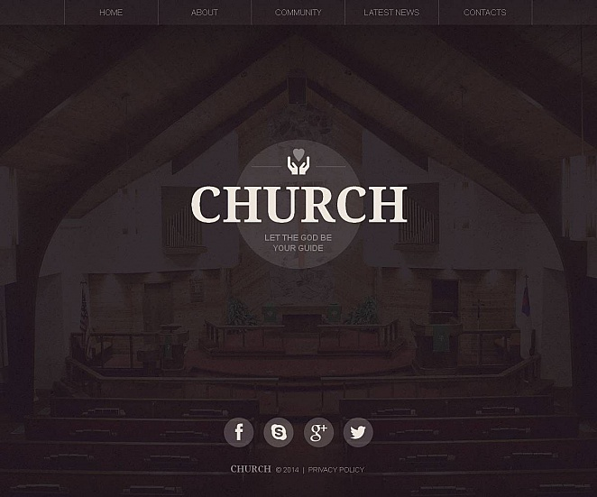 Church Website Template with Blurred Image Background - image