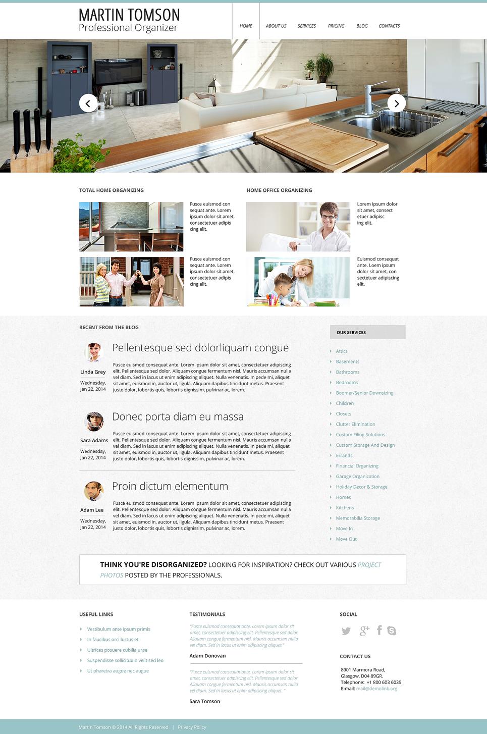 Interior Design Responsive Website Template