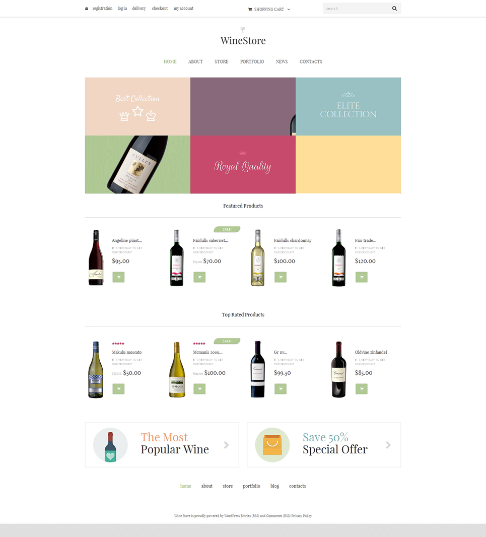 Luscious Wine Responsive Jigoshop Theme