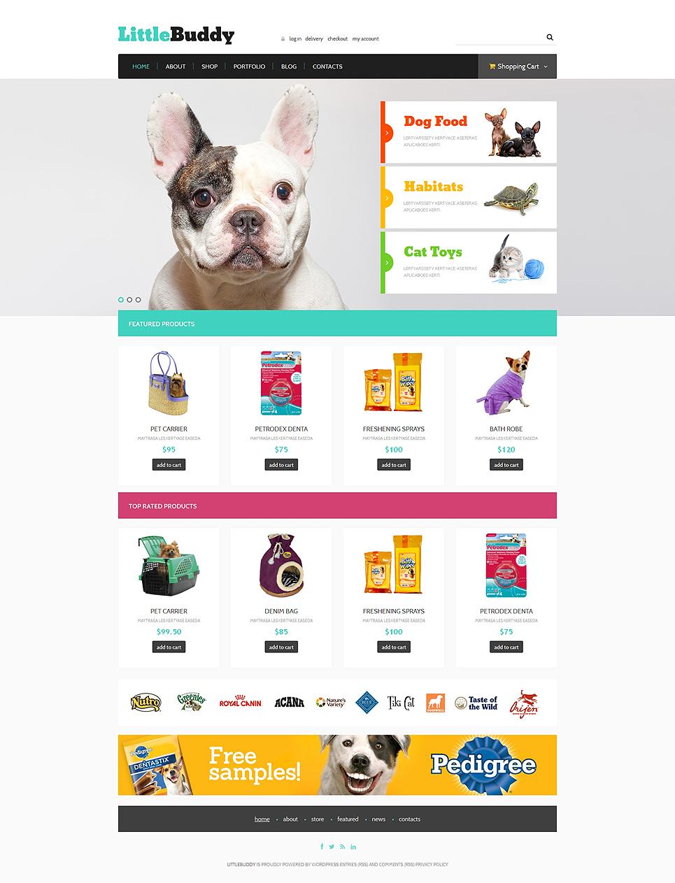 Responsive Pet Shop Jigoshop Theme