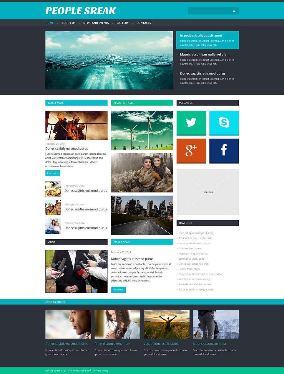 News Portal Responsive Joomla Template | Templates - Buy Website ...