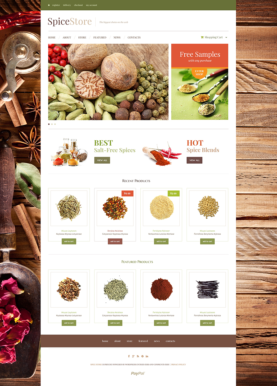 Mouth Watering Spice Shop Responsive Jogoshop Theme