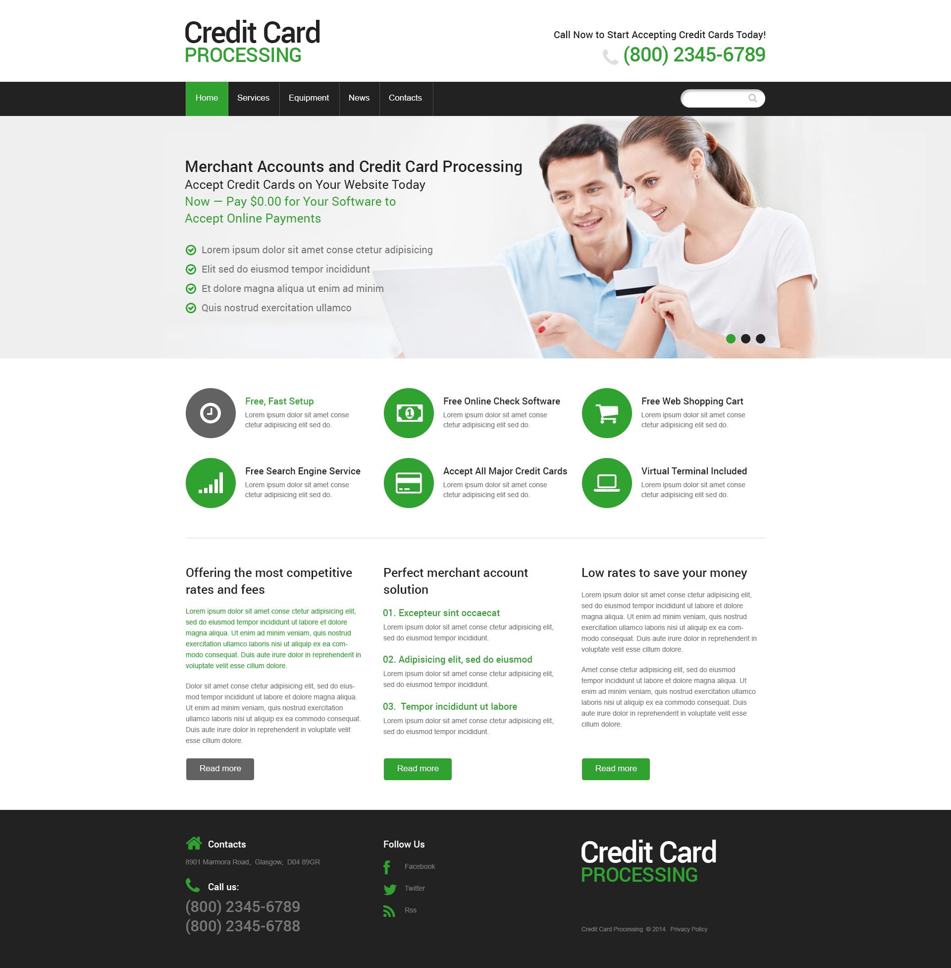 Plantilla Web #48619 para Sitio de Banco