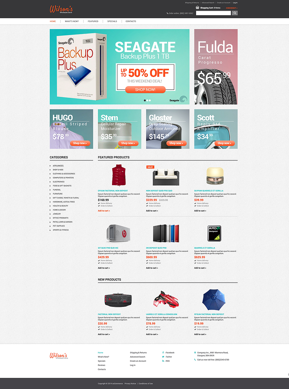 Amazing Fashion Store OsCommerce clothing Template
