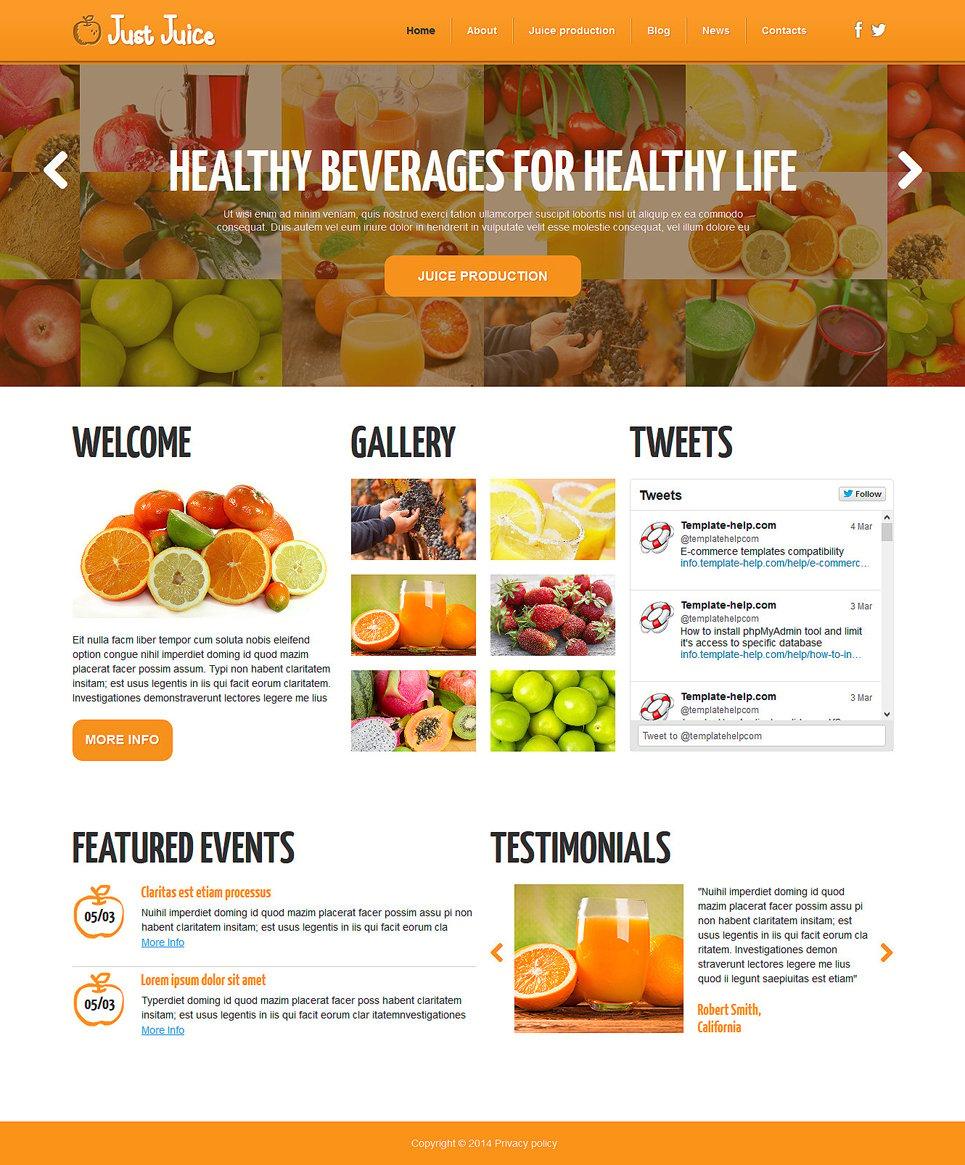 Simple Food & Drink Responsive Joomla Template