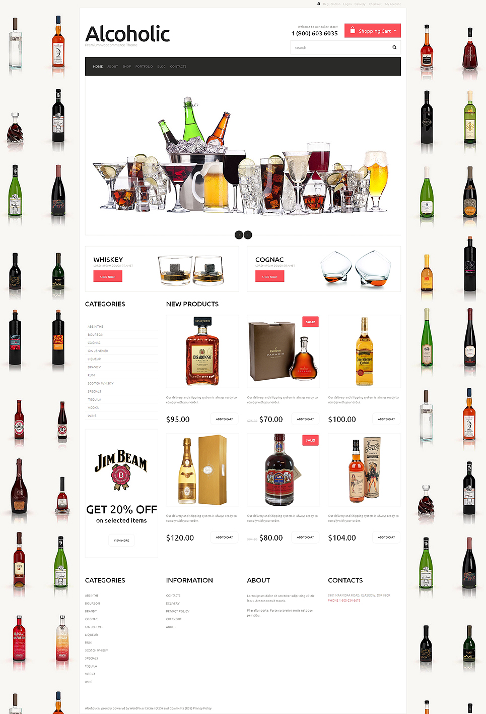 Elegant Food & Drink Responsive Jigoshop Theme