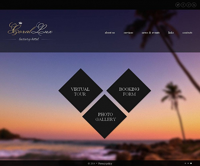 Creative Website Template with Elements of Polygonal Art - image