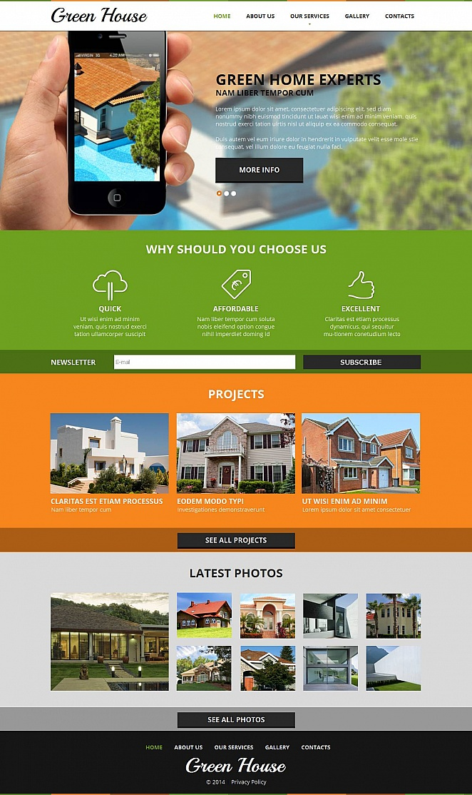 Architecture Website Template with Creative Multicolored Design - image