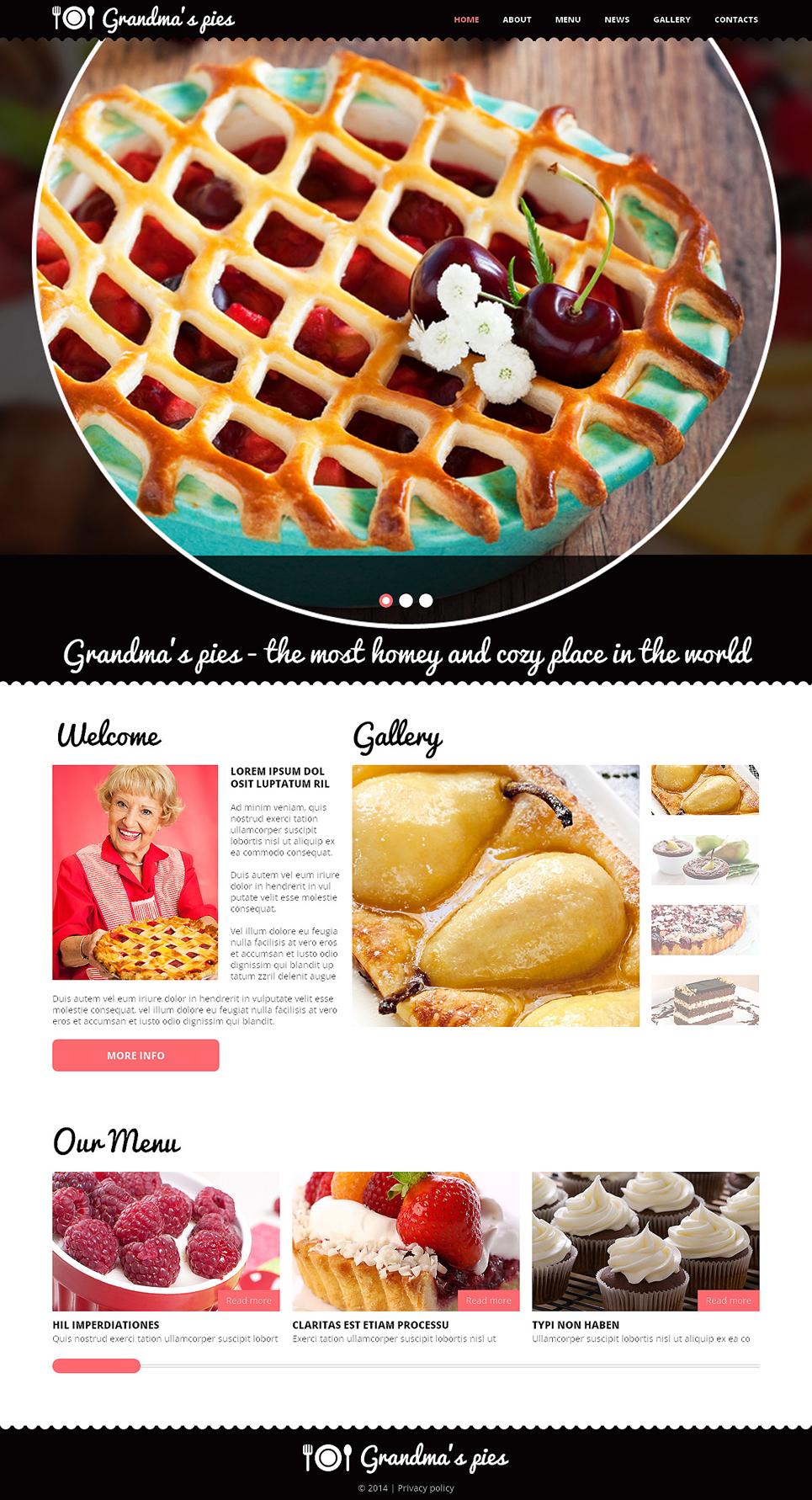 Best Cooking Responsive Joomla Template