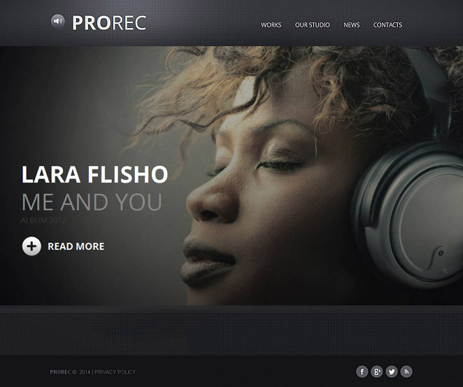 Music Website Template for Professional Musicians - image