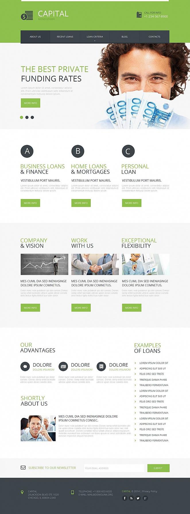 Mortgage Lender Website Template - image