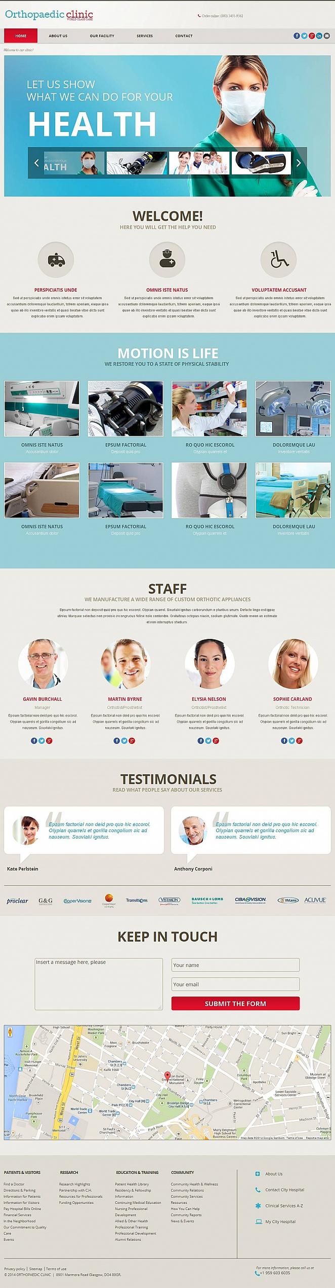 Orthopedic Treatment Website Template - image