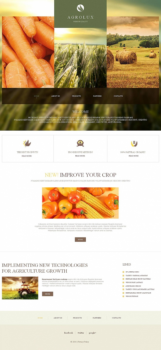 Agriculture Website Template with Google Map - image