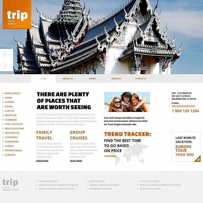 Webseite auf der Basis von MotoCMS Vorlage für eine Reiseagentur - image