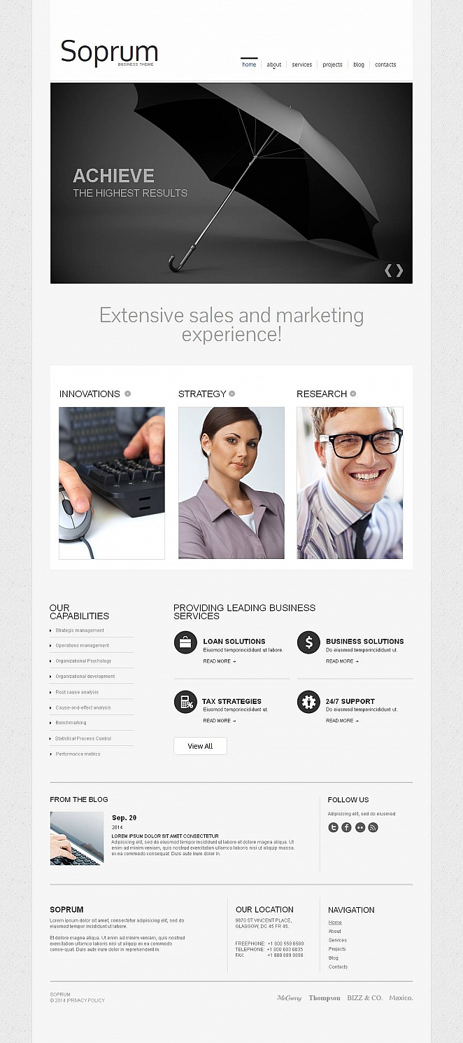 Marketing Website Template with Gray Textured Background - image