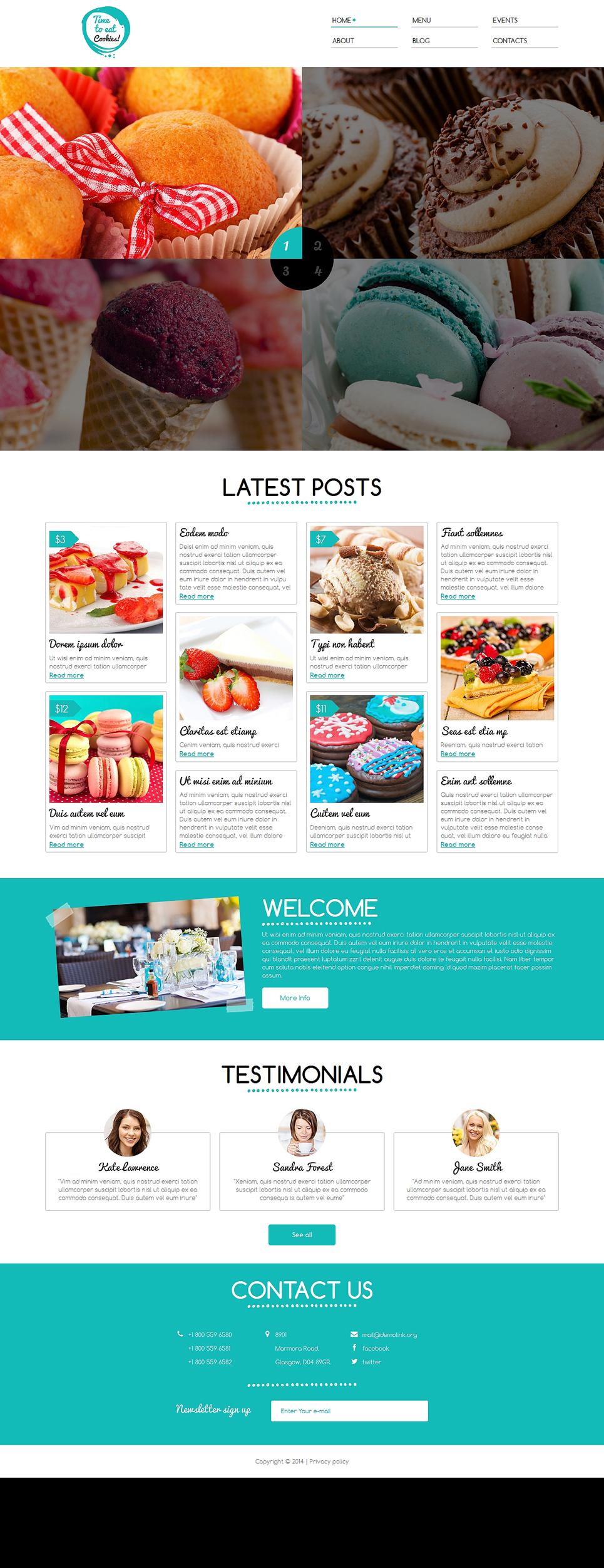 Tasty Sweet Shop Responsive Joomla Template