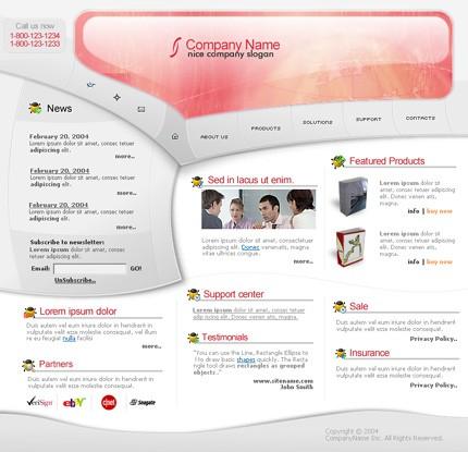 Заказ создания сайта или интернет магазина на тему Бизнес, Фейерверки, на основании шаблона №4961.