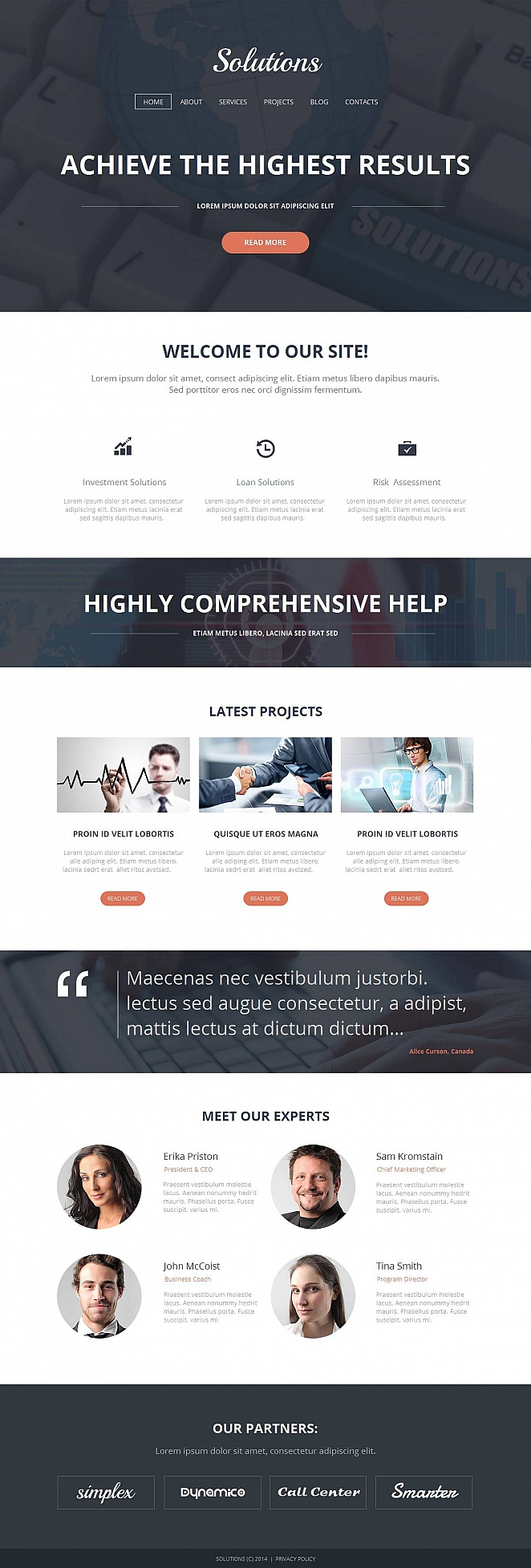 Consulting Website Design with CMS - image