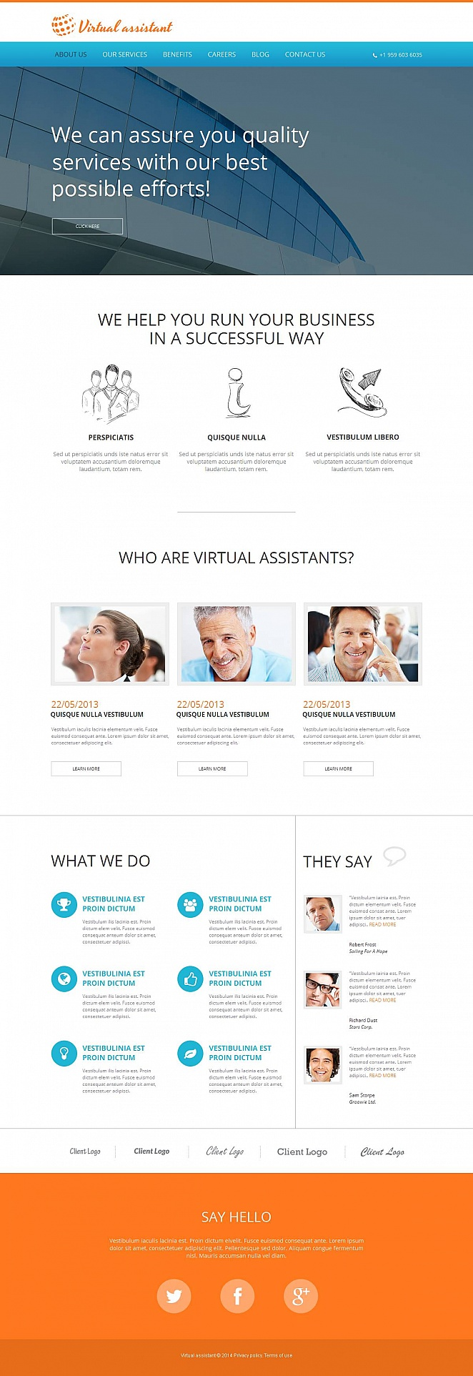 Online Business Consulting Website Template - image