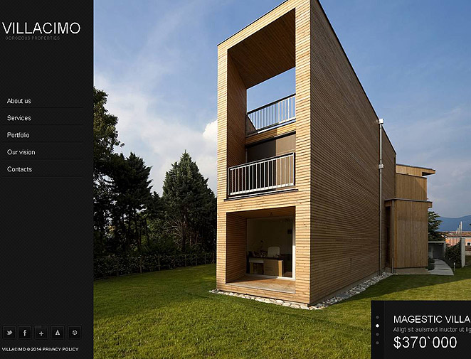 Real Estate Web Template with Prevailing Black Color - image