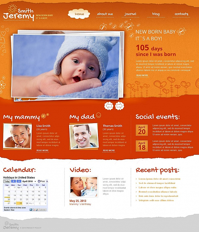 MotoCMS HTML Шаблон #49039 из категории Семья - image
