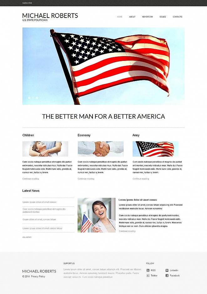 MotoCMS HTML Шаблон #49041 из категории Политика - image