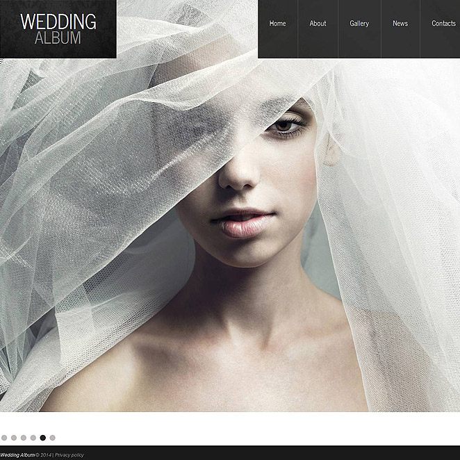 Wedding Album Website Template with Background Gallery - image